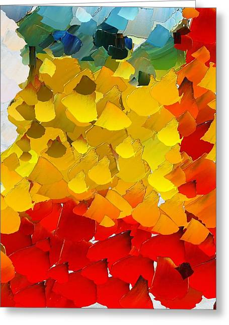 Pallet Knife Digital Art Greeting Cards - CApixART Abstract 26 Greeting Card by Chris Axford