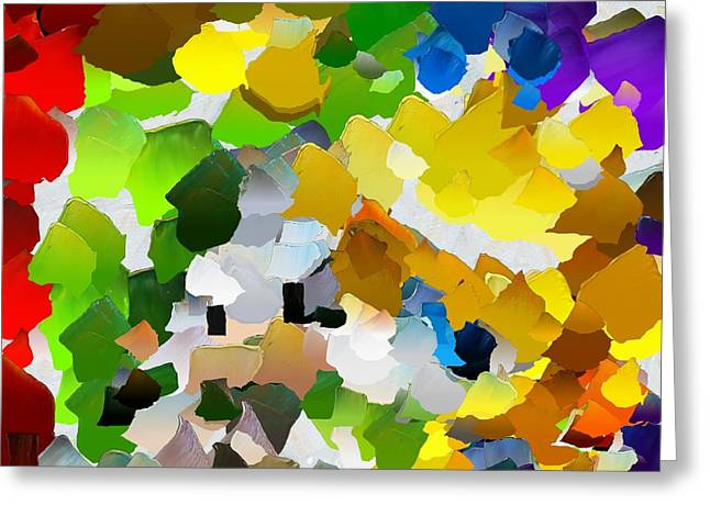 Pallet Knife Digital Art Greeting Cards - CApixART Abstract 27 Greeting Card by Chris Axford