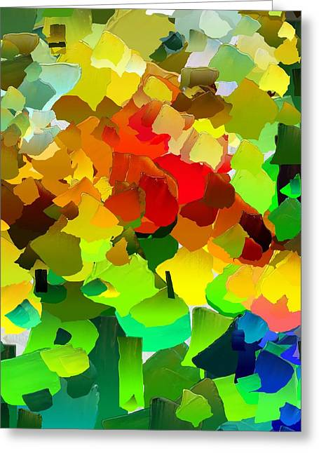 Pallet Knife Digital Art Greeting Cards - CApixART Abstract 28 Greeting Card by Chris Axford