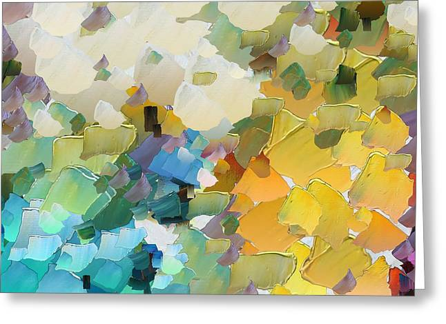 Pallet Knife Digital Art Greeting Cards - CApixART Abstract 29 Greeting Card by Chris Axford