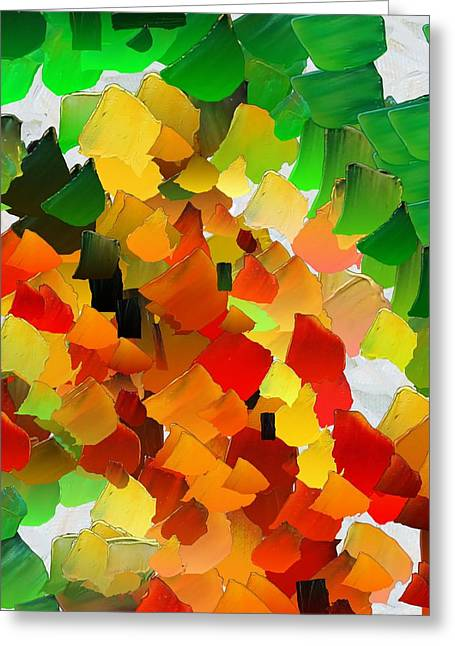 Pallet Knife Digital Art Greeting Cards - CApixART Abstract 30 Greeting Card by Chris Axford