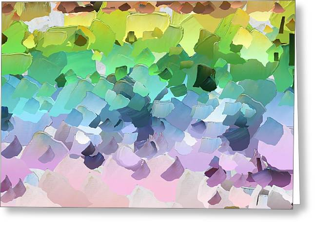 Pallet Knife Digital Art Greeting Cards - CApixART Abstract 31 Greeting Card by Chris Axford