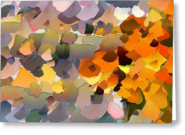 Pallet Knife Digital Art Greeting Cards - CApixART Abstract 32 Greeting Card by Chris Axford