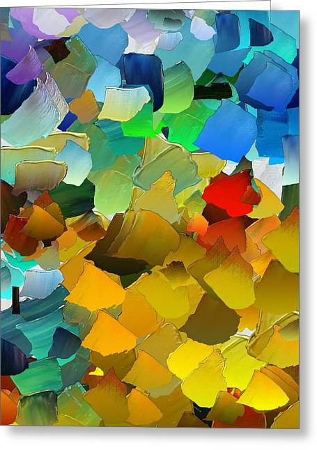 Pallet Knife Greeting Cards - CApixART Abstract 33 Greeting Card by Chris Axford
