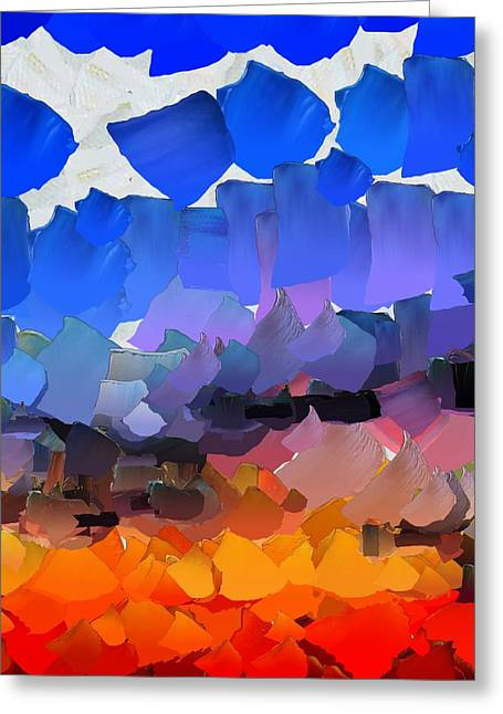 Pallet Knife Digital Art Greeting Cards - CApixART Abstract 34 Greeting Card by Chris Axford