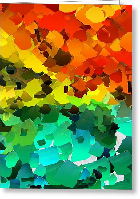 Pallet Knife Digital Art Greeting Cards - CApixART Abstract 35 Greeting Card by Chris Axford