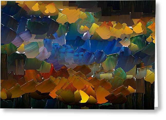Pallet Knife Digital Art Greeting Cards - CApixART Abstract 38 Greeting Card by Chris Axford