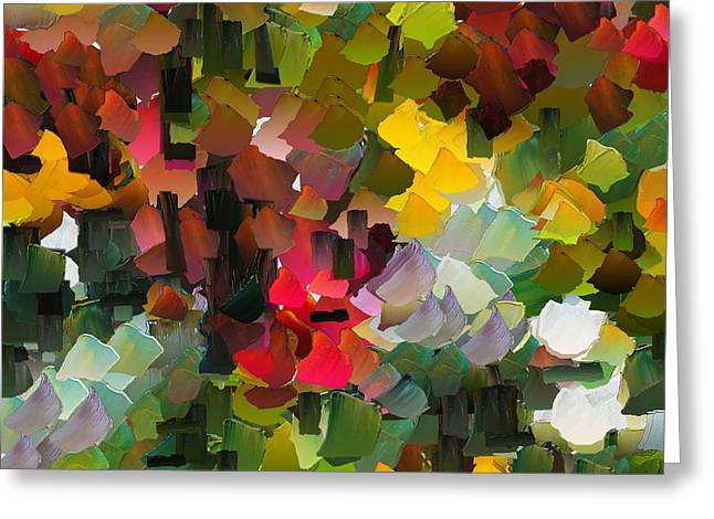 Pallet Knife Digital Art Greeting Cards - CApixART Abstract 40 Greeting Card by Chris Axford