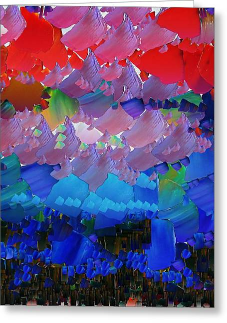 Pallet Knife Digital Art Greeting Cards - CApixART Abstract 44 Greeting Card by Chris Axford