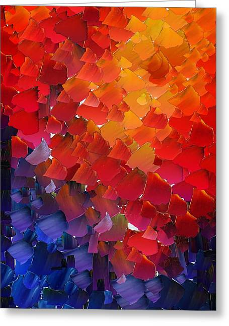 Pallet Knife Greeting Cards - CApixART Abstract 56 Greeting Card by Chris Axford