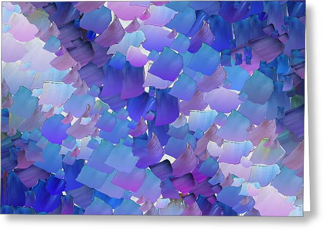 Pallet Knife Greeting Cards - CApixART Abstract 92 Greeting Card by Chris Axford