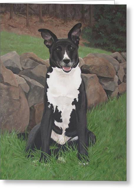 Sandra Chase Paintings Greeting Cards - Capone Greeting Card by Sandra Chase