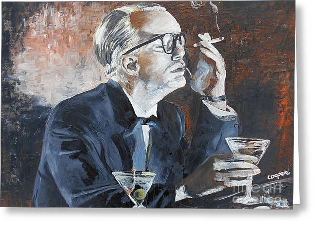 Capote Greeting Cards - Capote by Hoffman Greeting Card by Kevin J Cooper Artwork