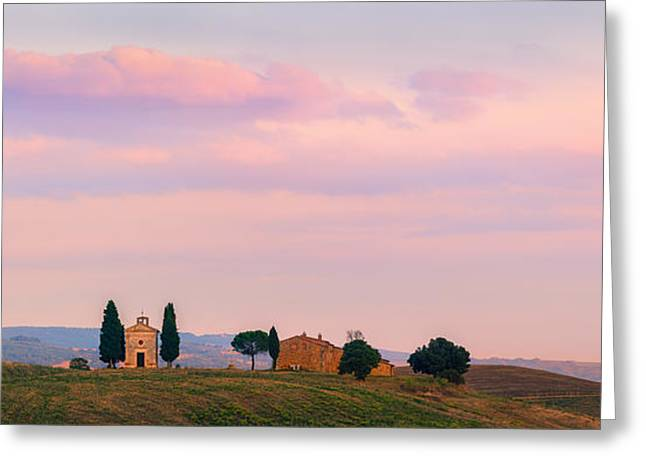 Siena Chapel Greeting Cards - Cappella della Madonna di Vitaleta Greeting Card by Henk Meijer Photography