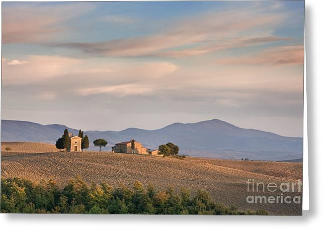 Pienza Greeting Cards - Cappella della Madonna di Vitaleta - Tuscany Greeting Card by Rod McLean