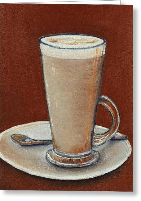 Feng Shui Art Mixed Media Greeting Cards - Cappuccino Greeting Card by Anastasiya Malakhova
