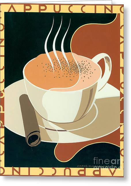 Milk Digital Art Greeting Cards - Cappuccino Greeting Card by Brian James