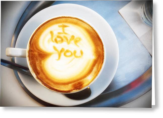 Macro Greeting Cards - Cappuccino Greeting Card by Fabrizio Troiani