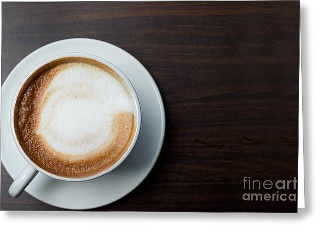 Minimalist Espresso Greeting Cards - Cappuccino Greeting Card by Ivy Ho
