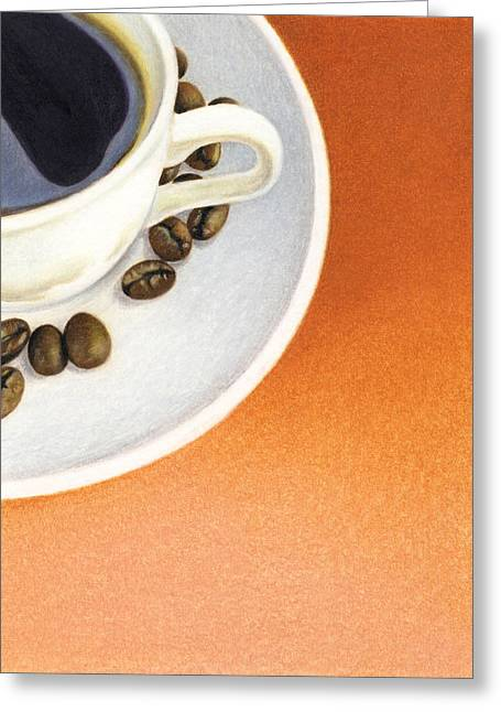 Still Life With Tangerines Greeting Cards - Cappuccino Greeting Card by Natasha Denger