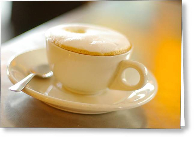 Barrista Greeting Cards - Cappuccino Greeting Card by Tom Schmucker