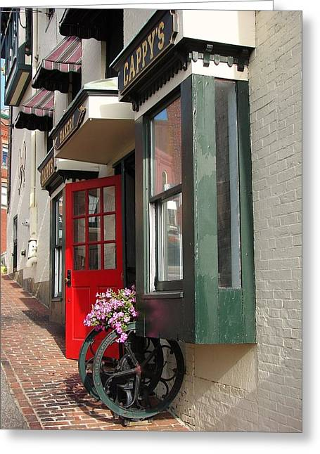 Chowder House Greeting Cards - Cappys of Camden Maine Greeting Card by Mia Capretta