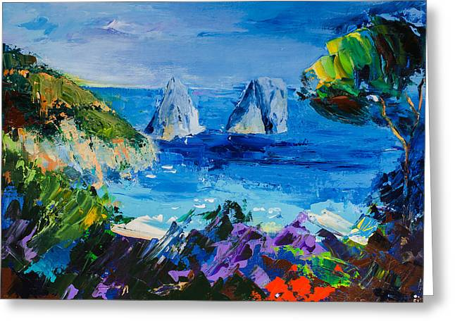 Beach Scenery Greeting Cards - Capri Colors Greeting Card by Elise Palmigiani