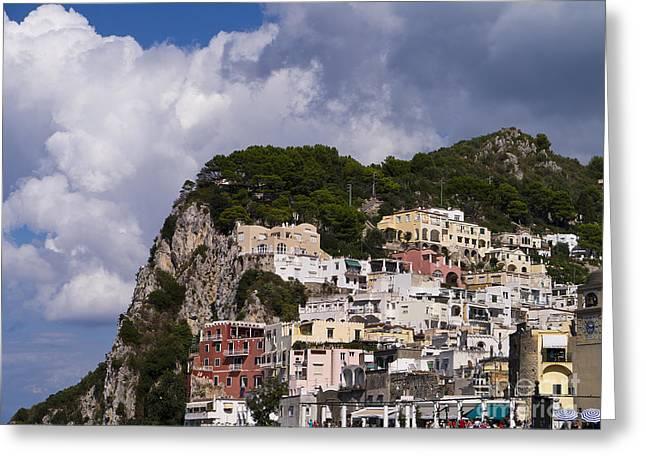 Capri Magic Greeting Card by Brenda Kean