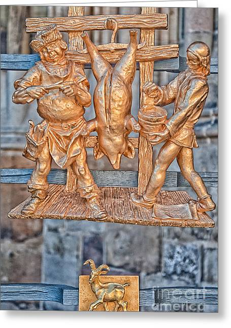 Goat Photographs Greeting Cards - Capricorn Zodiac Sign - St Vitus Cathedral - Prague Greeting Card by Ian Monk