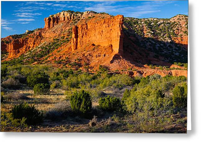 Caprock Canyons State Park Greeting Cards - Caprock Canyons Panorama Greeting Card by Inge Johnsson