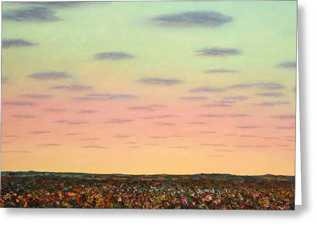 Caprock Sunrise Greeting Card by James W Johnson