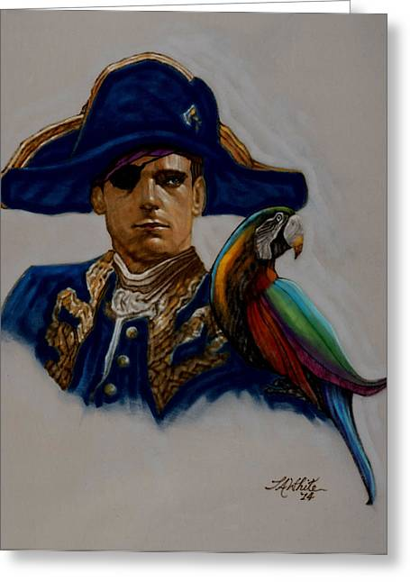 Buccaneer Greeting Cards - Capt. Blood Greeting Card by Terry A White