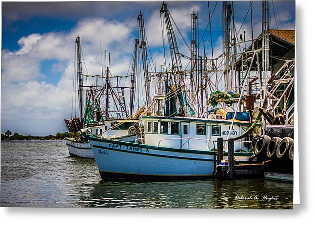 Shrimp Boat Captains Greeting Cards - Capt James N Greeting Card by Deborah Hughes