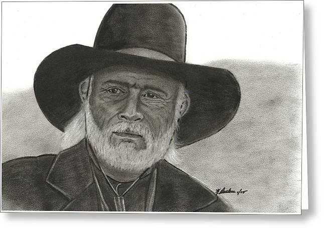 Lonesome Dove Greeting Cards - Capt. Woodrow Call Greeting Card by Ken Decker