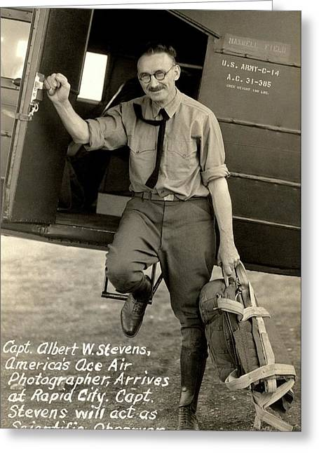 Captain Albert Stevens Greeting Card by American Philosophical Society
