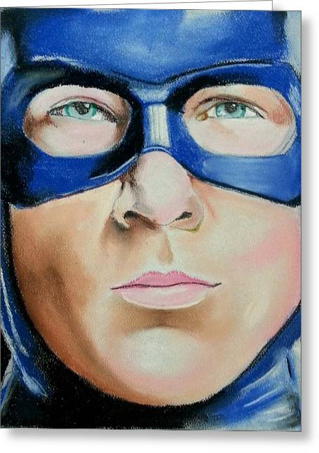 Heroes Pastels Greeting Cards - Captain America Greeting Card by Bobby Boyer
