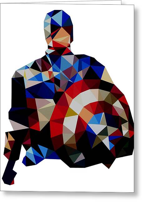 Captain America Paintings Greeting Cards - Captain America Greeting Card by Ian  King