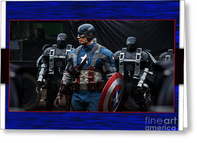 Superheroes Greeting Cards - Captain America  Greeting Card by Marvin Blaine