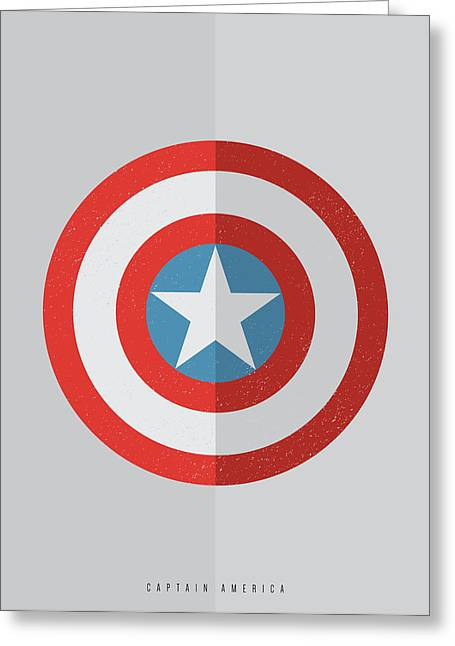 Terxture Greeting Cards - Captain America Greeting Card by Mike Taylor