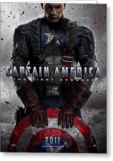 Movie Poster Prints Greeting Cards - Captain America The First Avenger  Greeting Card by Movie Poster Prints
