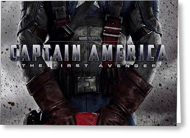 Captain America The First Avenger  Greeting Card by Movie Poster Prints