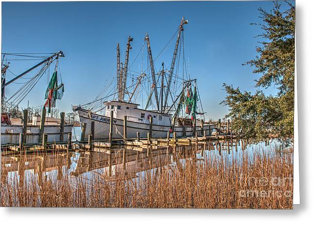 Shrimp Boat Captains Greeting Cards - Captain Andrew Greeting Card by Dale Powell