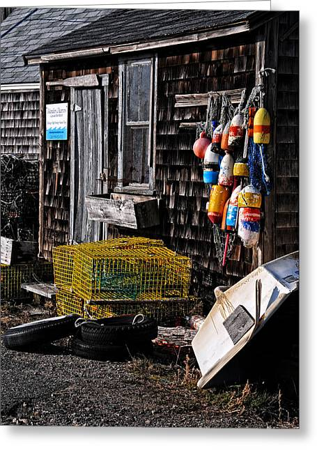 Rockport Ma Greeting Cards - Captain Bobs Shanty Greeting Card by Mike Martin