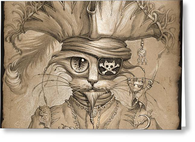 Captain Claw Greeting Card by Jeff Haynie