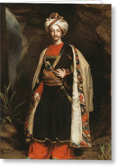 Duty Greeting Cards - Captain Colin Mackenzie In His Afghan Greeting Card by James Sant