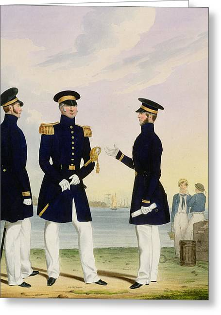 Uniformed Greeting Cards - Captain Flag Officer And Commander Greeting Card by Eschauzier and Mansion