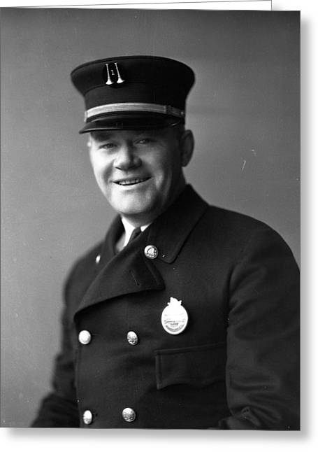 Policemen Greeting Cards - Captain Frank Riley Greeting Card by Retro Images Archive