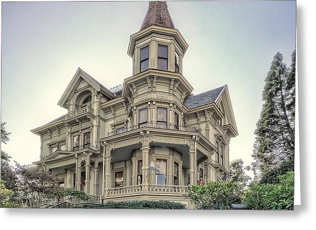 Historic Home Greeting Cards - Captain George Flavel Victorian House - ASTORIA OREGON Greeting Card by Daniel Hagerman