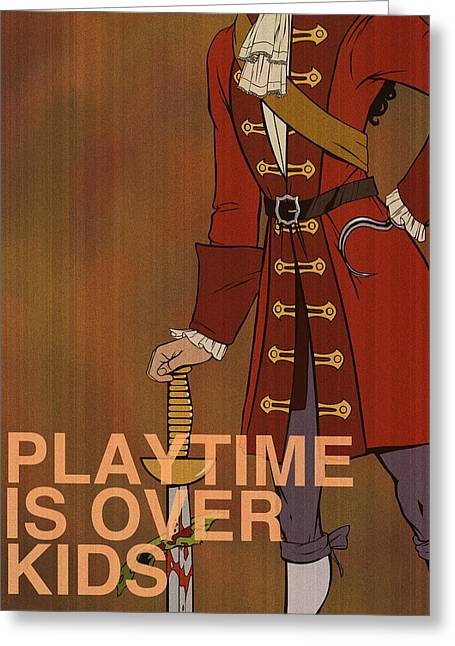 """peter Pan"" Greeting Cards - Captain Hook Greeting Card by Christopher Ables"