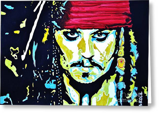 Captain Jack Sparrow Art Greeting Cards - Captain Jack Greeting Card by Kyle  Brock